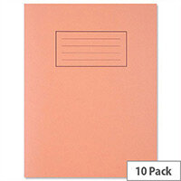 Silvine Exercise Book 5mm Squares 80 Pages 229x178mm Orange Ref EX105 [Pack 10]