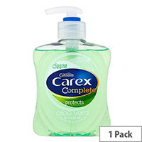 Carex Antibacterial Aloe Vera Liquid Soap Hand Wash 250ml (Pack 1) 339865