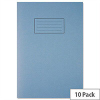 Silvine Exercise Book Ruled and Margin 80 Pages A4 Blue Ref EX108 [Pack 10]