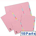 Concord A3 Subject Dividers Oblong 10-Part