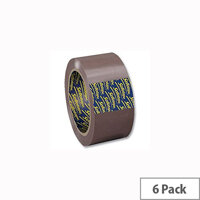 Sellotape Buff Packaging Tape 50mm x 66m (6 Pack)