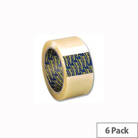 Sellotape Clear Packaging Tape 50mm x 66m (6 Pack)