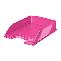 Leitz WOW Letter Tray Stackable Glossy Metallic W245xD380xH70mm Met Pink Ref 52263023