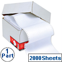 1 Part Listing Paper 368mm Plain 60gsm 2000 Sheets 5 Star