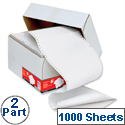 2 Part Listing Paper Carbonless Ruled 60gsm 1000 Sheets 5 Star