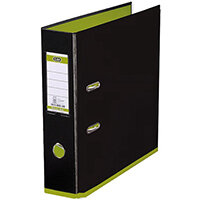 Elba MyColour Lever Arch File 80mm Polypropylene A4 Black and Lime
