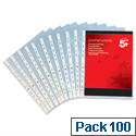 A4 Clear Punched Poly Pocket 50 Micron Pack 100 5 Star