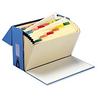 Expanding Box File Foolscap Blue 20 Pockets A-Z 5 Star - 20 Concertina Like Pockets That Can Take Both A4 & Foolscap. Can Hold Up To 760 A4 Sheets & Is Made From Material That Can Be Recycled. Ideal In Offices, Schools, Colleges & More.