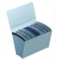 5 Star Premium Expanding File Foolscap Blue with Flap 16 Pockets A-Z 12 Months 1-31