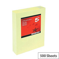 5 Star Multifunctional Yellow A4 Paper 80gsm Ream of 500 Sheets