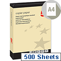5 Star A4 Yellow 80gsm Multifunctional Paper Ream of 500 Sheets