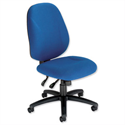 Trexus Intro Maxi Asynchronous High Back Office Chair Blue