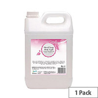 2Work Pink Pearl Hand Wash Liquid Soap 5 Litre (Pack 1) 2W03974