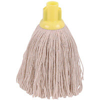 2Work 12oz Twine Rough Socket Mop Head Yellow Pack of 10 PJTY1210I