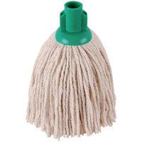 2Work 12oz PY Smooth Socket Mop Head Green Pack of 10 PJYG1210I
