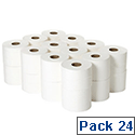 2Work 2 Ply White Micro Twin Toilet Paper Roll 125m (Pack of 24) JWH102