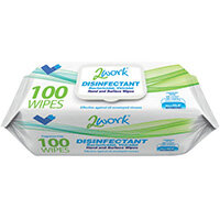 2Work Viricidal Hand And Surface Wipes Pack of 100 2W07385