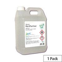 2Work Hand Sanitiser 5 Litre Refill Bottle (Pack 1) 222
