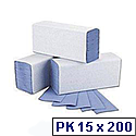 2Work Blue 1 Ply M-Fold Paper Hand Towel 242x240mm (Pack of 3000) HT2317
