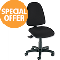 Asynchronous High Back Office Operator Chair Charcoal Trexus