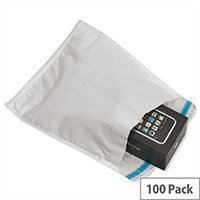 Ampac 170 x 245mm White Extra-Strong Padded Polythene Protective Envelopes Pack 100