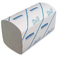 Kimberly Clark Scott Performance Small White 1 Ply Paper Hand Towels 274 Towels Per Sleeve 15 Sleeves (4110 Sheets) 6689