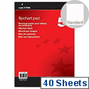 A1 Flipchart Pad Perforated 40 Sheets Plain 5 Star