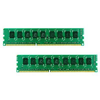 Synology - DDR3 - 4 GB: 2 x 2 GB - DIMM 240-pin - 1600 MHz / PC3-12800 - CL11 - unbuffered - ECC - for Disk Station DS3615xs; RackStation RS3614RPxs, RS3614XS, RS3617xs