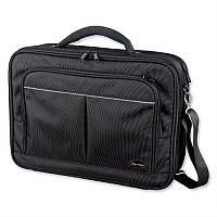 "Lightpak Executive Laptop Bag Padded Multi-section Nylon Capacity 17"" Black"