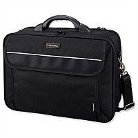 """Lightpak Arco Laptop Bag 17"""" Padded Nylon Capacity Black"""