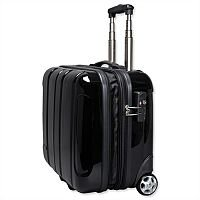 Black Business Trolley ABS Plastic with Removable Laptop Case JSA