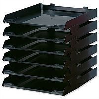 Avery Paper Stack Letter Tray A4 Black Pack 6
