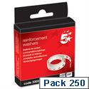 Vinyl Reinforcement Washers Box 250 5 Star