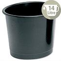 5 Star Office Waste Desk Bin Polypropylene 14 Litres D254xH304mm Black