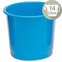 5 Star Office Waste Desk Bin Polypropylene 14 Litres D254xH304mm Blue