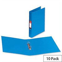 PVC Ring Binder A4 Blue 2 O-Ring Size 25mm Pack 10 5 Star