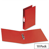 PVC Ring Binder A4 Red 2 O-Ring Size 25mm Pack 10 5 Star