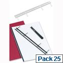 GBC Desktop Velobinder Binding Strips 25mm 4 Prongs Bind 200 Sheets A4 White 9741639 Pack 25