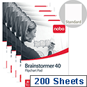 Nobo Brainstormer A1 Flipchart Pad Perforated 40 Sheets Feint Lined Pack 5