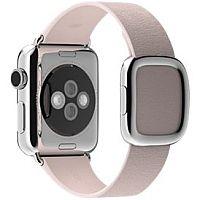 Apple 38mm Modern Buckle 15cm Soft Pink Leather Watch Strap