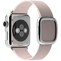 Apple 38mm Modern Buckle 16.5cm Soft Pink Leather Watch Strap