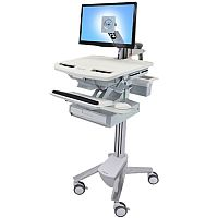 Ergotron Cart LCD Display Keyboard Mouse Notebook Scanner Medical Capacity: 16.8 kg