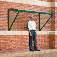 Green Framed Wall Mounted Smoking Shelter