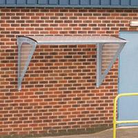 Light Grey Framed Wall Mounted Smoking Shelter Small