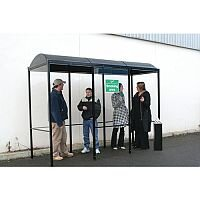 Domed Outdoor Smoking Shelter