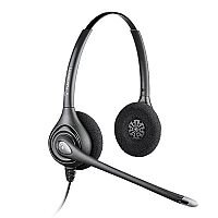 Plantronics SupraPlus HW261N/A Wideband Binaural Noise Cancelling Headset Black, Quick Disconnect Connector, Premium audio clarity, Sensitive Boom-Mic