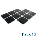 COBA Anti Slip Self Adhesive Tile 140 x 140mm Black Pack of 10