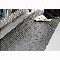 COBA Bubblemat Standing Surface Middle Section Mat Hard-wearing Rubber W600xD900xH14mm Black