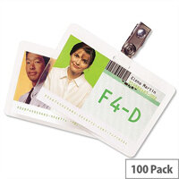 GBC Credit Card Laminating Pouches 250 Micron 54x86mm Pack 100