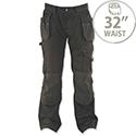 Dewalt Low Rise Work Trousers Metal-Zip Holster-Pockets Waist 32in Leg 31in Black